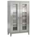 "Raised Clearview Stainless Steel Cabinet - 48""W x 24""D x 85""H, 36610"