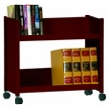 "25""H 2 Sloped Shelf Book Cart, 87847"