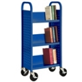 "46""H 3 Sloped Shelf Book Cart, 87848"