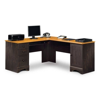 Corner L-Desk with Reversible Storage, 13397