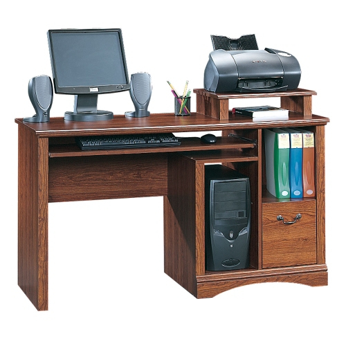 Sauder studio rta 60061 office line 60 inch computer for Desk for computer and printer