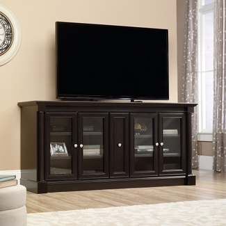 """TV Storage Credenza with Glass or Wood Doors - 70""""W x 19.5""""D, 14025"""