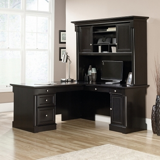 "L-Desk with Hutch - 65""W x 68""D, 14030"