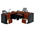 Locking Double Pedestal Executive Bowfront L-Desk, 14763