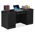 """Locking Double Pedestal Credenza with Keyboard Tray - 60""""W, 14766"""