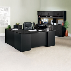 Complete L-Desk Office Suite with Locking Files, 14768