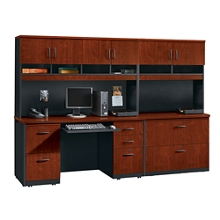 Complete Credenza and Locking Lateral File Wall Set, 14769