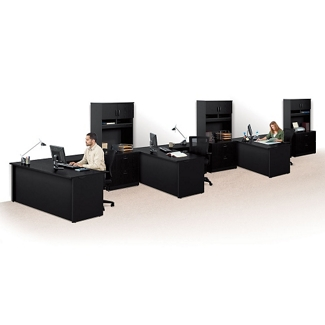 Set of Three Reversible Compact L-Desks with Hutches , 14778