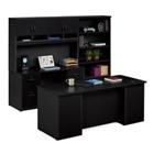 Executive Desk and Locking Storage Wall Set, CD08522
