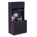 Locking Two Drawer Lateral File with Hutch , 30896