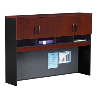 Credenza Hutch with Soft-Close Doors, 36974