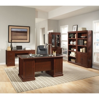 Executive Desk and Library Set, 13574