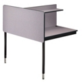 Adjustable Height Two-Sided Carrel- Adder, 13748