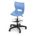 Adjustable Height Poly Stool with Casters, 50025