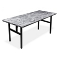 "Aluminum Swirl Table with H Legs -  72"" x 30"" , 41869"
