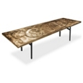 "Aluminum Swirl Table with H Legs -  96"" x 30"" , 41870"