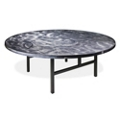 "Aluminum Swirl Round Table with H Legs -  72""DIA, 41874"