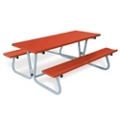 Aluminum Picnic Table with Umbrella Hole - 6 ft, 85829