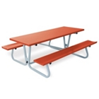 Aluminum Picnic Table with Handicap Access and Umbrella Hole - 8 ft, 85834