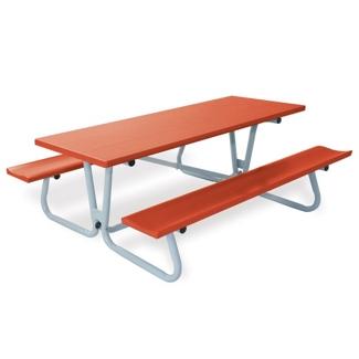 Aluminum Picnic Table with Umbrella Hole - 8 ft, 85830