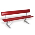 Portable Bench with Backrest - 6 ft, 85823