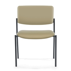 Armless Vinyl Mid-Size Stacking Guest Chair, 25899