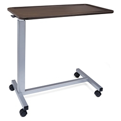 """Adjustable Height Overbed Table with Lipped Top - 30""""W , 26076"""