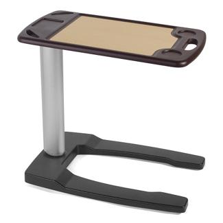 """Adjustable Height Overbed Table with U-Base- 32""""W , 26079"""