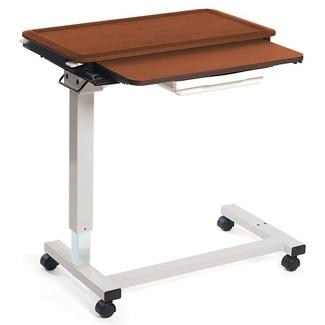 "Adjustable Height Split Top Overbed Table - 32""W, 26080"