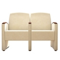Behavioral Health Vinyl Two-Seat Guest Chair with Center Arm, 26143