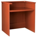 "Circulation Desk with Patron Counter - 42""W x 30""D, 10026"