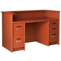 "Circulation Desk with Counter and Locking Double Pedestals - 60""W x 30""D, 10045"