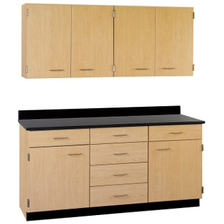 """Six Drawer, Six Door Wall and Base Cabinet Set - 60""""W, 25206"""
