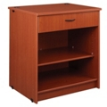 "Two Shelf Library Station with Lockable Drawer - 40""H, 31080"
