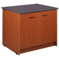 "Two Shelf Library Station with Lockable Doors - 30""H, 31097"