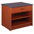 "Two Shelf Library Station with One Lockable Drawer - 30""H, 31099"