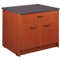 "Two Shelf Doored Library Station with Drawer - 30""H, 31100"