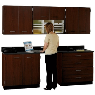 """90"""" W Cabinet Set with Standing Height Workstation, 36020"""