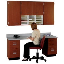 """60"""" W Cabinet Set with Workstation, 36021"""