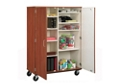 Mobile Divided Teacher Storage w/Lock, 36206