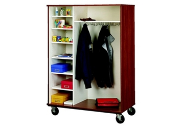 """Divided Shelf and Coat Storage Cabinet - 67""""H, 36853"""
