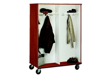 """Double-Sided Four Compartment Mobile Coat Cabinet - 67""""H, 36854"""