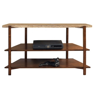 """Faux Marble Top TV Console - 46""""W , 46257"""