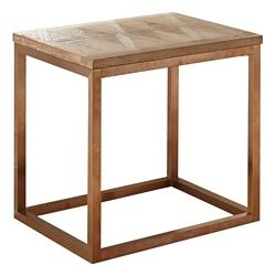 "Parquet Veneer Top End Table - 24""W, 46261"