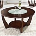 """Round Coffee Table with Glass Insert - 39.5""""DIA, 46263"""