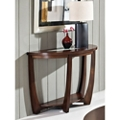 """Half Round Sofa Table with Glass Insert - 45""""W, 46265"""