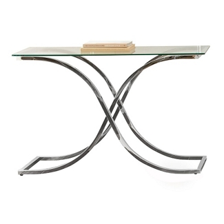 """Glass Top Sofa Table with Curved Frame - 48""""W, 46280"""