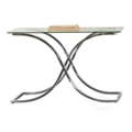 "Glass Top Sofa Table with Curved Frame - 48""W, 46280"