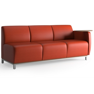 Three Seat Fabric Lounge Sofa with Left Tablet Arm, 53049
