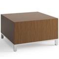 "Square Modern Laminate Corner Table - 28""W x 28""D, 53058"